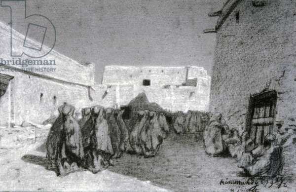 Procession in a village in the Sahel