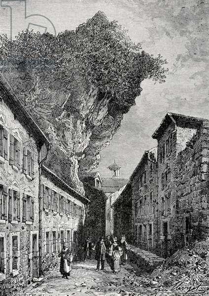 La rue des caves a Roquefort
