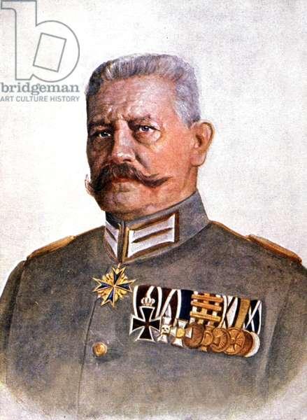 Le marechal Hindenburg