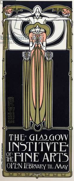 Art. The Glasgow Institute of Fine Arts. Poster by Mac Nair and Mac Donald, Scotland, 1897 (poster)