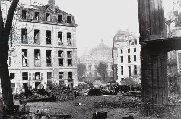 Rebuilding of Paris, 1870 (b/w photo) (b/w photo)
