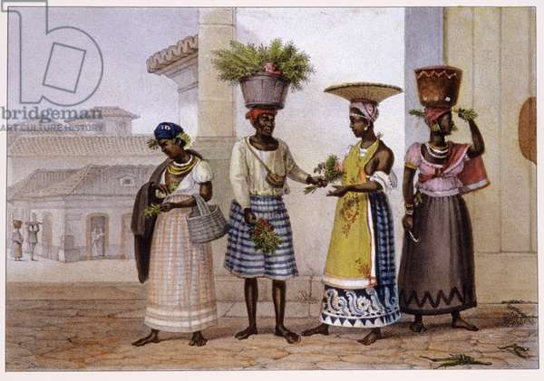 Sellers of grass. 1839 (lithograph)