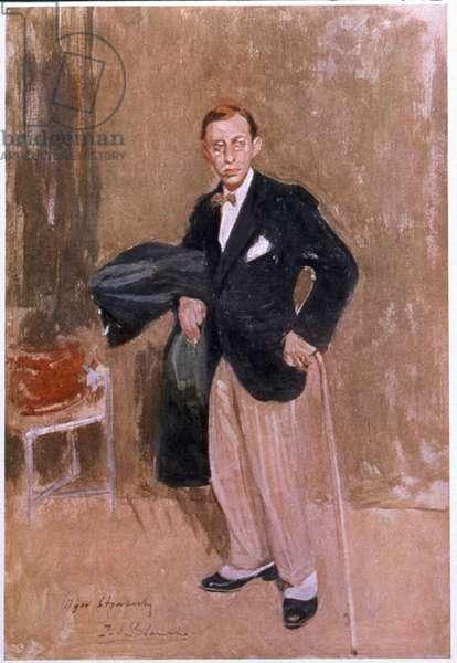 Igor Stravinsky, c.1916 (w/c on paper)