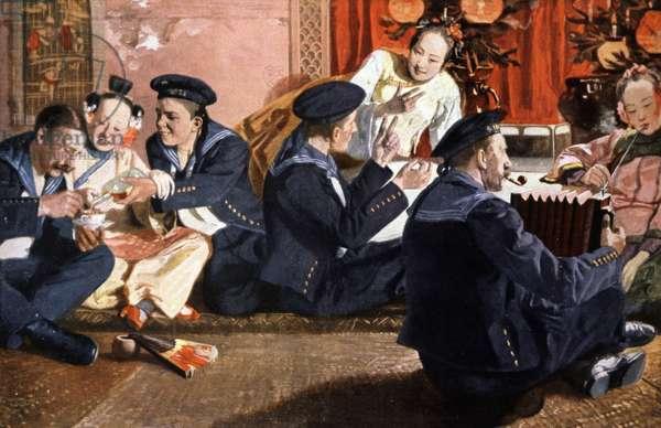 Geishas and Western sailors