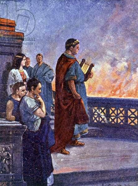 Nero watching burn Rome