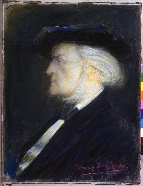Music. Classical music. The composer Richard Wagner. Painting by Henry de Groux, France, c.1900 Coll. Musee de la musique, Paris. (oil on canvas)