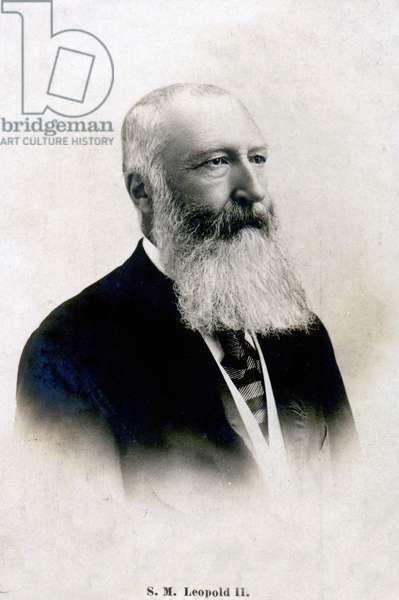 History. Belgium. The king Leopold II of Belgium. Photo, France, c.1900.