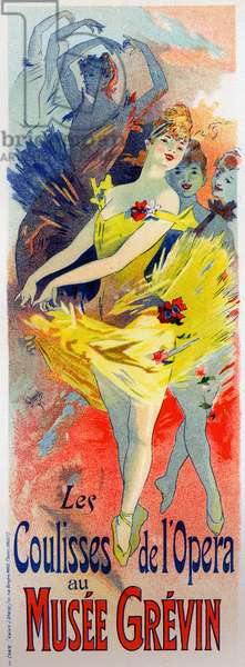 Art. Entertainment. Dancers at the Opera of Paris. Poster by Jules Cheret, France, 1896. (poster)