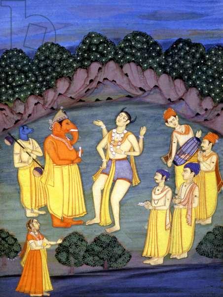 Hindu gods Shiva and Ganesh