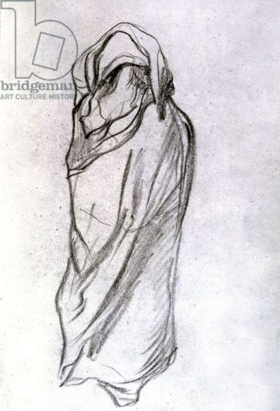 Veiled woman in the Sahel