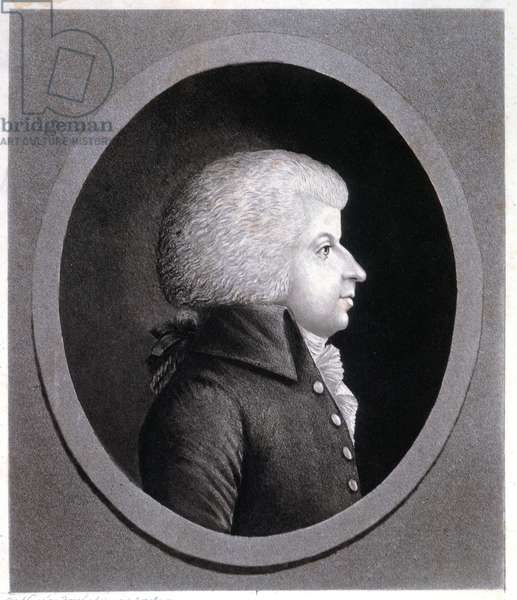 Music. Classical music. The composer Wolfgang Amadeus Mozart. Engraving, France, c.1775 (engraving)