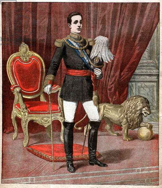 Alphonse XIII d'Espagne. Alfonso XIII of Spain.