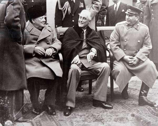 Yalta Conference. 1945 (b/w photo)