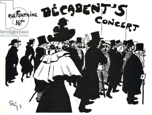 Bonne societe se pressant au Decadent's Concert