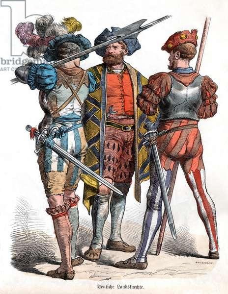 Costumes allemands du 16eme siecle