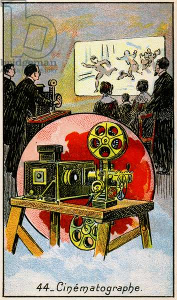 Science. Movie projector. Imagery in: The wonder of Electricity, France, c.1910.