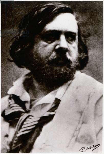 Literature. The french writer Theophile Gautier. Photo by Felix Nadar (1856). Postcard, France, c.1900 (b/w photo)