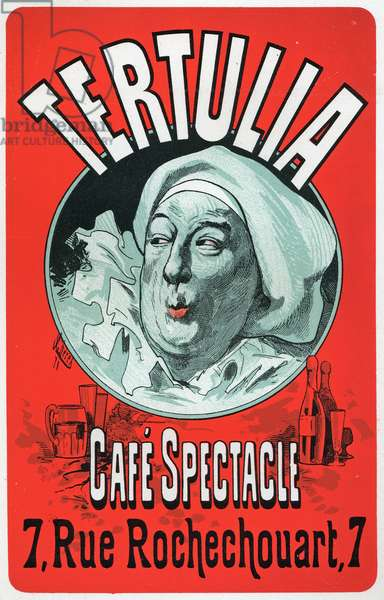 Art. Entertainment. Tertulia, show at the Cafe Spectacle, Paris. Poster by Jules Cheret, c.1870 (poster)