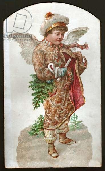Angel of Christmas. (Lithography, circa 1900)