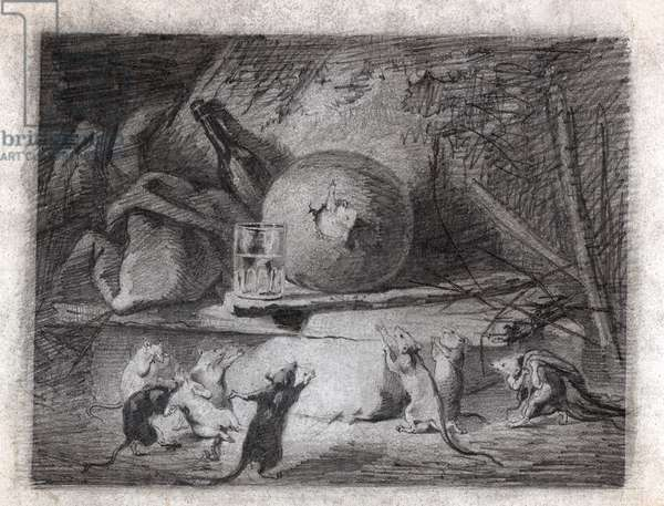 The Rat who retired from the world (drawing, circa 1870)