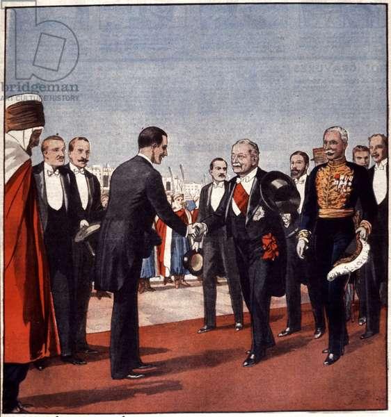Le president Doumergue recut a Alger par M. Manaut