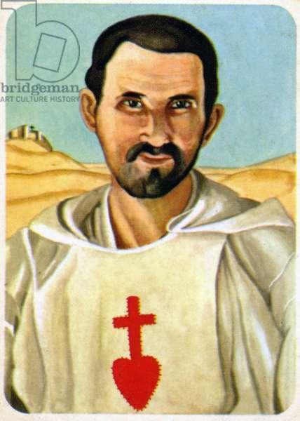 Religion. Catholic Religion. The religious leader Charles Eugene de Foucauld in Algeria. Imagery, France, c.1950 (print)