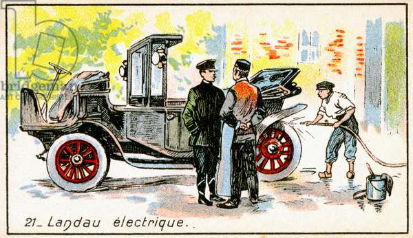 Transport. Electric car. Imagery in: The wonder of Electricity, France, c.1910.