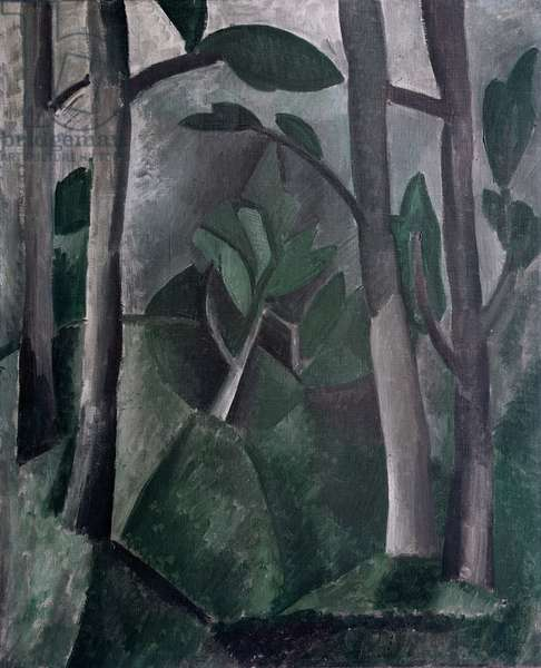 Landscape (Path of trees), 1908 (oil on canvas)