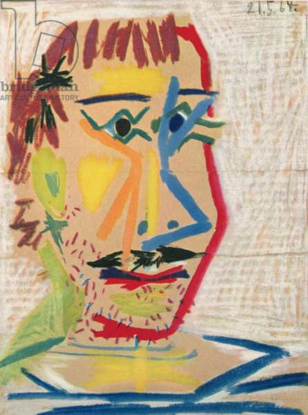 The Figures, 1964 (coloured crayon on cardboard)