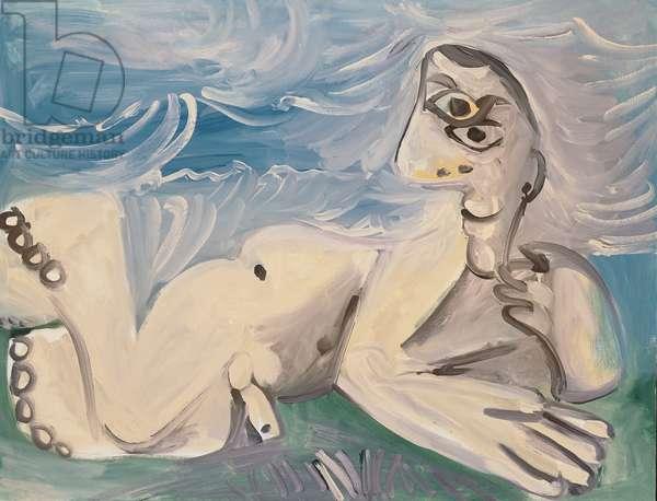Nude Man II, 5th July 1971 (oil on canvas)