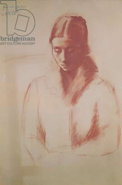 Portrait of Olga Picasso, 1921-22 (red chalk on paper)