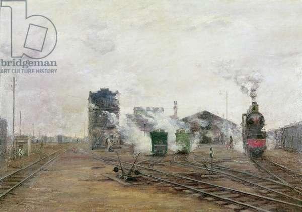 Transport is Organised, 1923 (oil on canvas)