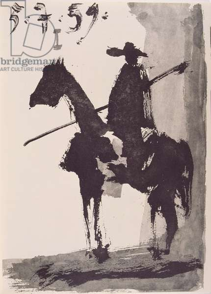 Picador, 1959, in 'Toros y Toreros', published by le Cercle d'Art in 1961 (Indian ink on paper)