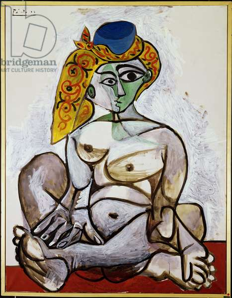 Nude woman with turkish bonnet, 1st December 1955 (oil on canvas)