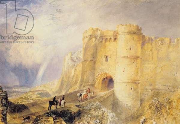 Carisbrook Castle, Isle of Wight (w/c on paper)