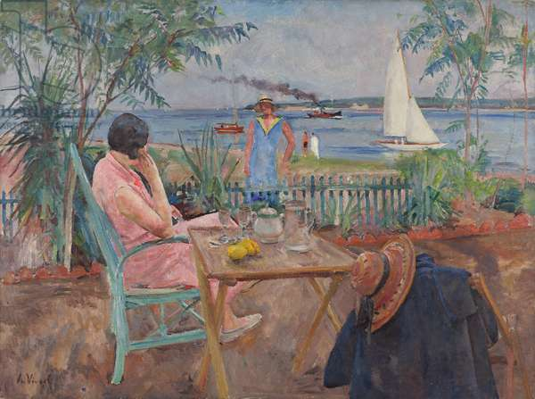 Beautiful Summer Day, 1930 (oil on canvas)