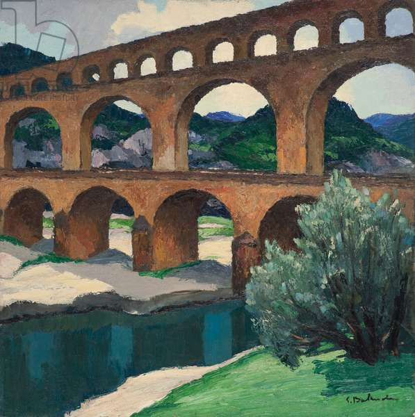 The Pont du Gard, 1935 (oil on canvas)