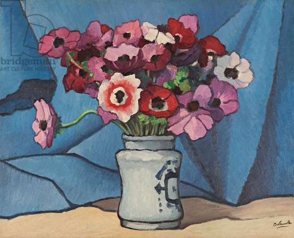 Bouquet of Anemones, 1940 (oil on paper laid down on canvas)