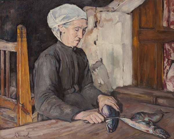 Woman with Fish, 1920 (oil on canvas)