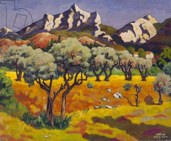 The Alpilles at Eygallières (Bouche-du-Rhône) (oil on canvas)