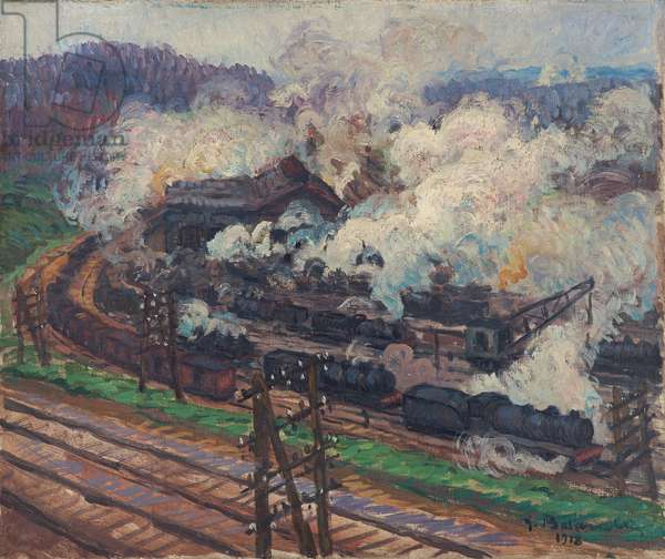 Trains in the Station, 1918 (oil on canvas)