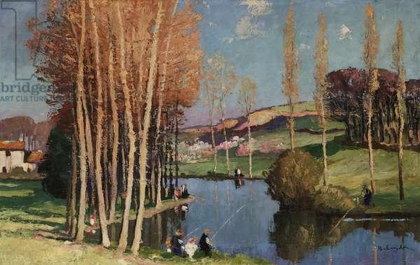 La Mothe-Saint-Héraye, Deux-Sèvres (oil on canvas)
