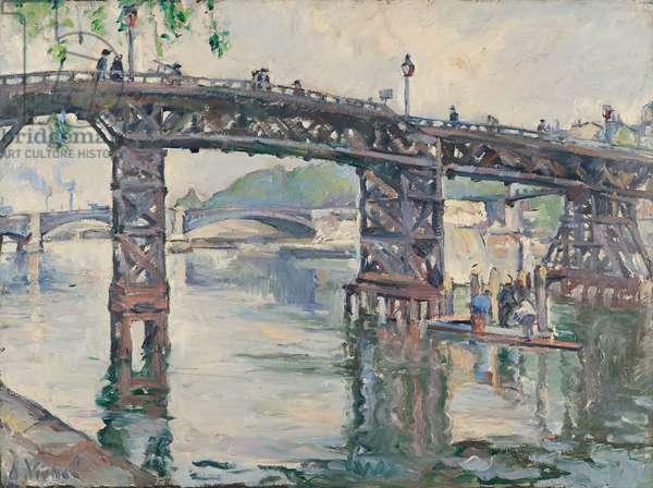 Wooden Bridge at the Quai d'Orleans (Ile Saint-Louis), 1928 (oil on canvas)