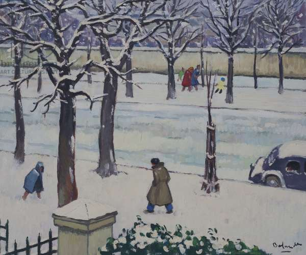 Boulevard Arago in the Snow, 1962 (oil on panel)