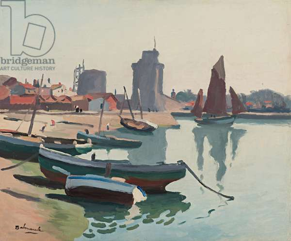The Port of La Rochelle, 1920 (oil on paper laid down on canvas)