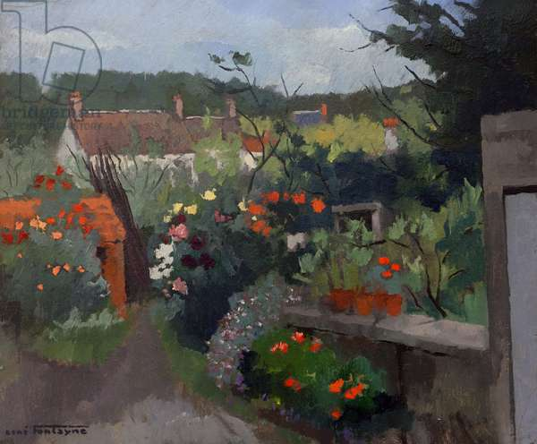 The Gardens at Souppes-sur-Loing, Seine-et-Marne (oil on cardboard)