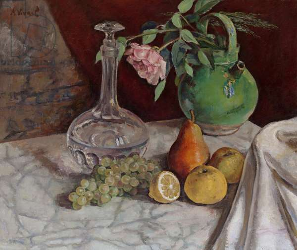 Still Life with Carafe and Fruit, 1924 (oil on canvas)