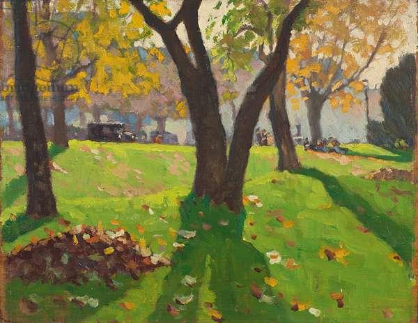 Avenue du Bois, 1932 (oil on panel)