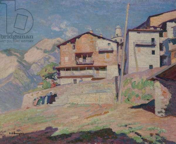 The Wash House at Saint-Martin de Vésubie (oil on canvas)
