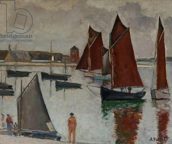 The Port of Camaret (oil on panel)